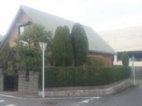 バラのフェンスを用いたスッキリした庭 K様邸 廿日市市