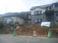 庭石をすべて再利用したリフォームガレージ  廿日市市 H邸