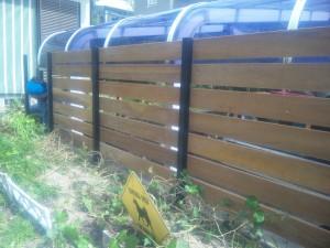 生垣からウリンのフェンスで目隠し  廿日市市 A邸