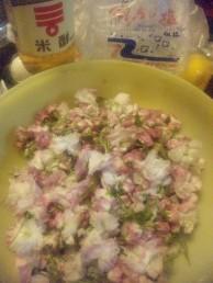 八重桜塩漬け状況