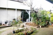 梅とシュロチクと倉庫を一体活用した坪庭  廿日市市  H様邸