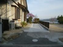 フェンスを再利用したガレージと庭 廿日市市 I様邸