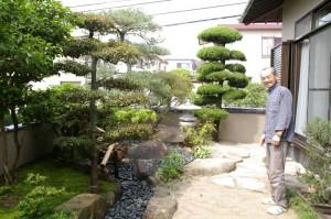 黒玉石で仕上げた和風のお庭 【T様邸】
