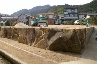 石垣を移設してリフォームファーム工事 廿日市市 A邸