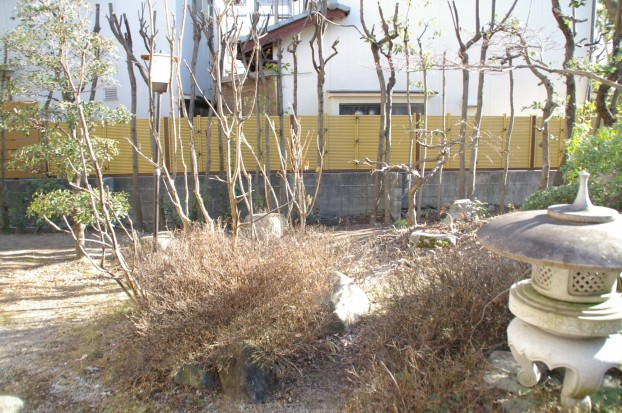 目隠しフェンスと竹垣 広島市 S様邸