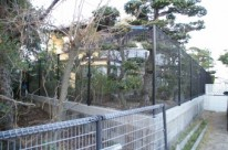 ドッグランのできるネットフェンスのあるお庭 廿日市市 I邸