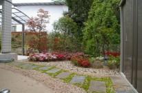 ライトアップされたイロハモミジのある庭 廿日市市 I邸