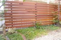 ウリン板フェンスによる目隠し H邸  廿日市市